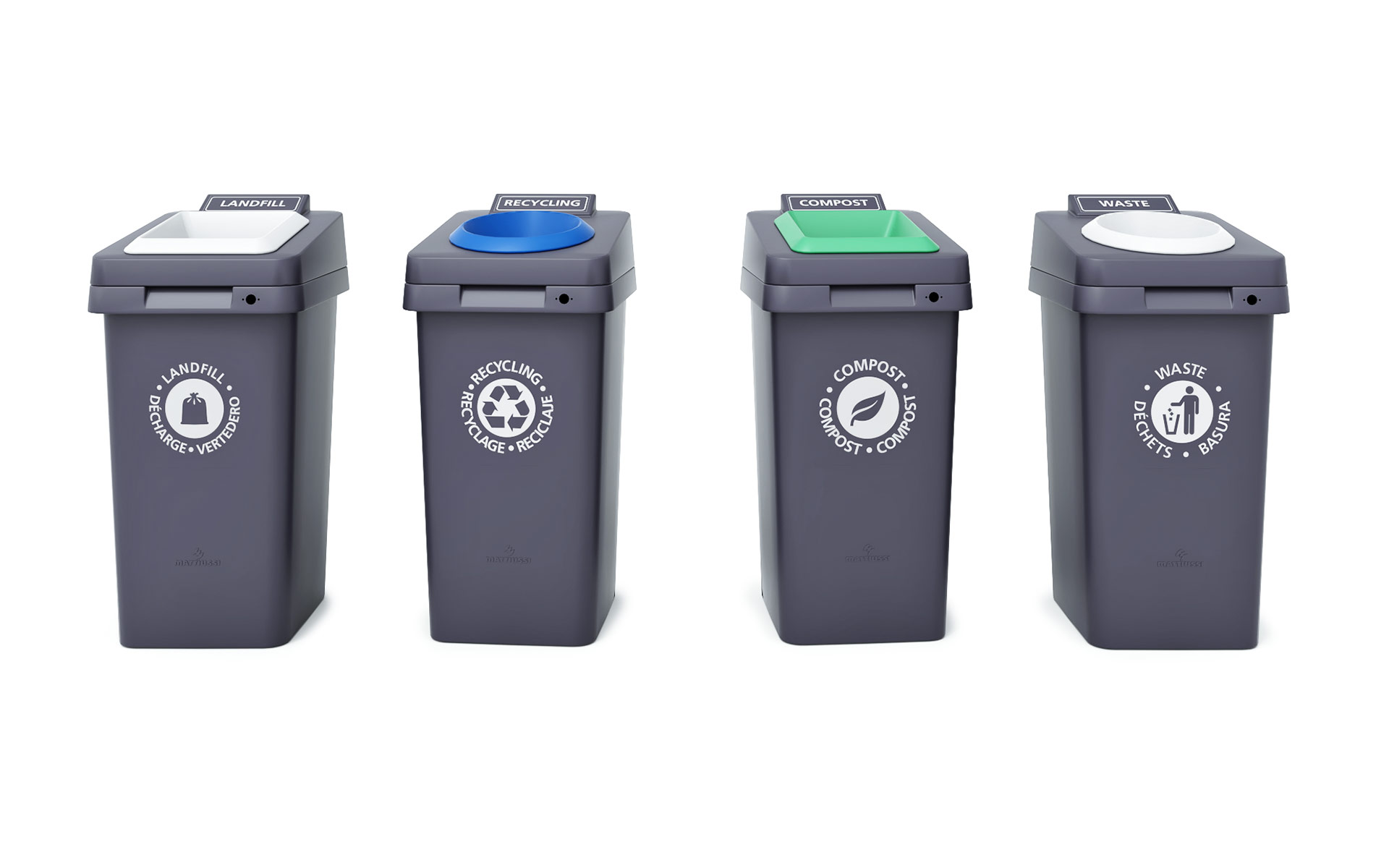 Re-Square Outdoor Waste Receptacles