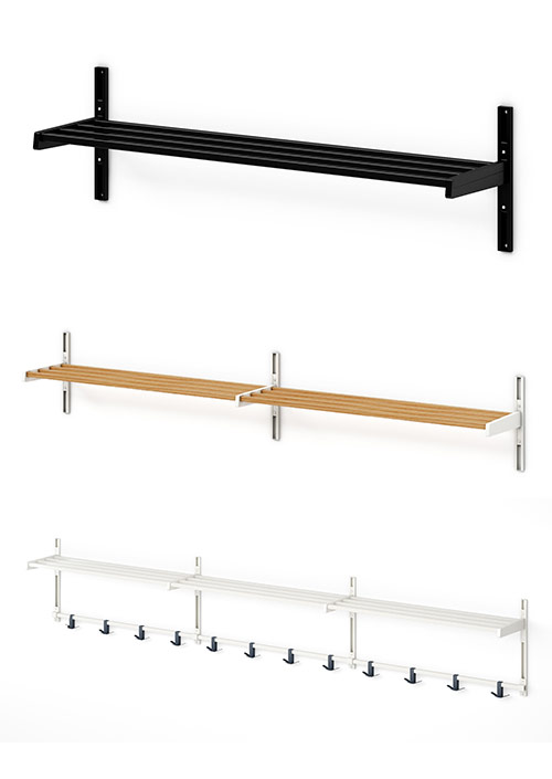 WU Utility/Boot Shelf Wall Rack
